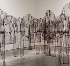 Claudia Casarino- I love the idea of a hanging shirt army