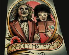 Dexter Slice of Life Tattoo Flash Art Print by ParlorTattooPrints