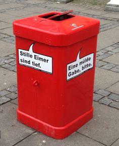 In #Hamburg machen #Abfalleimer klare Ansagen: #Design & #Utility