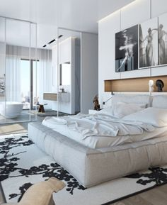 All-White Spaces In Apartment W, Boutique Tower, Israel