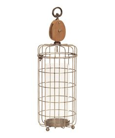 This Pulley Cage Candleholder is perfect! #zulilyfinds