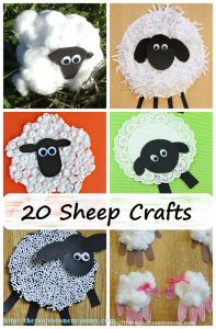 sheep crafts -- 20 adorable kids sheep crafts and lamb crafts perfect for spring