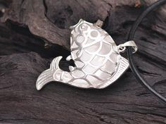 Square hollow fish pendant 950 silver jewelry wholesale handmade silver pendant 925 sterling silver women