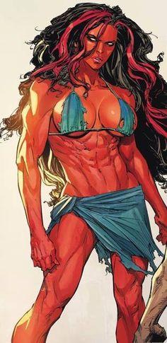 Red She Hulk #Marvel #comicgirl Pin and follow @Pyra2elcapo
