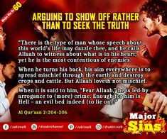 Major Sins in Islam Islamic Prayer, Know The Truth, Oppression, Quran, Persecution, Holy Quran