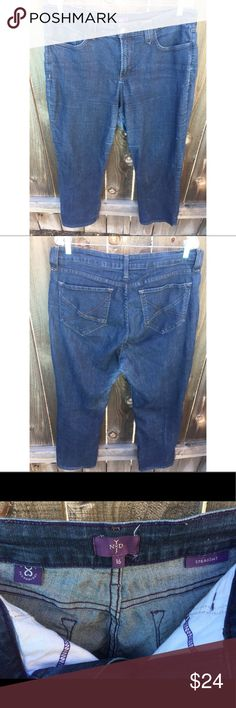 "NOT YOUR DAUGHTERS JEANS SZ 16 straight leg NOT YOUR DAUGHTERS JEANS SZ 16 straight leg  Front waist 19""  Inseam 28"" Good condition NYDJ Jeans Straight Leg"