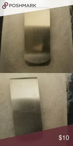 🌟HP🌟 Stainless steel money clip 🌟Host Pick - 1-27-18 - Best Dressed Party🌟  Stainless steel money clip. Brushed metal design.   Used as a display item only.  No  box will be included.  All items come from a smoke-free 🚭, cat-friendly 🐱 home.   I don't do trades, but I'll consider reasonable offers.  Thank you for looking! Accessories Money Clips