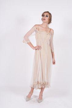 da8b8cbf325 40147 Ivory Gold Tulle Empress Nataya Dress Plus sizes too Vintage Style  Wedding Dresses