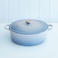 Le Creuset 29cm oval casserole in coastal blue. This is a kitchen item David could happily purchase for me with no worries!
