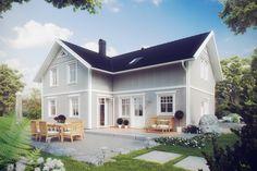 Kaptensgården är ett mycket speciellt och exklusivt hus med lantlig karaktär. Det förhöjda vägglivet tillsammans med vackra takkupor, vinklar och vrår skapar en särpräglad harmoni och följsamhet. Husets interiör går även den i samma linje, med stor omsorg om klassiska snitt, rymlighet och ljus med hela 2,6 meters takhöjd.