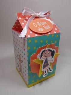 Caixa Milk Show da Luna - inspirações festa de aniversário