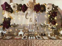 Big Paper Flowers, Paper Flowers Wedding, Paper Flower Wall, Paper Flower Backdrop, Elegant Birthday Party, 60th Birthday Party, Birthday Party Decorations, Wedding Decorations, Birthday Backdrop