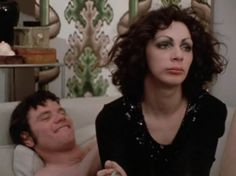 Holly Woodlawn femulating in the 1971 film Women in Revolt. Glam Rock, Holly Woodlawn, Yvonne Rainer, Angelina Jolie Movies, Feminist Movement, John Waters, Star Wars, Making A Movie, Transgender