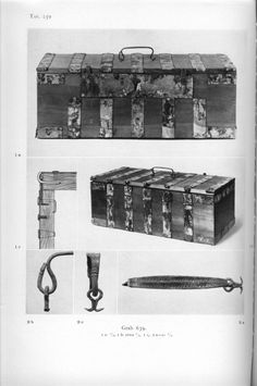 Birka chest Bj 639 from Holger Arbman - Birka I
