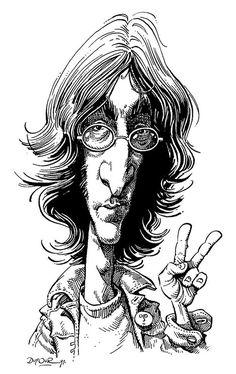 """Caricaturas de Famosos: """"John Lennon"""" por Santiago Dufour"""