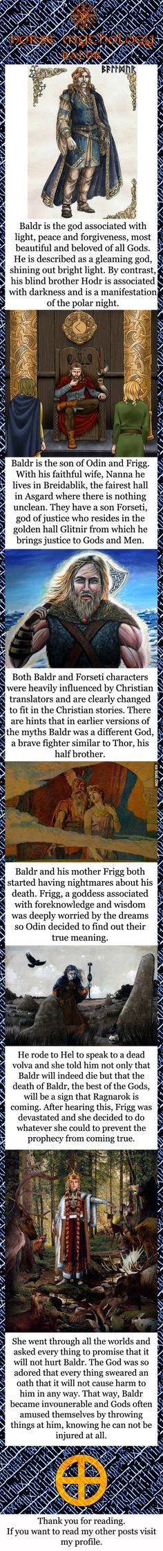 Norse mythology - Baldr Doesn't include the rest of the story including Loke and his dart of mistletoe