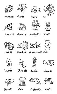 MesoAmerican glyph legend | Flickr - Photo Sharing!