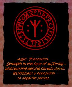 """Algiz-the Protective Rune... The combination of 4 Algiz Runes as a Bindrune """"Mandala"""", results in the sign of Ægishjálmur , which viking warriors are believed to have painted onto their forheads before going into battle. Algiz is actually a runic Trident, a protective sign in many ancient cultures. A fixed atribute of Poseidon, Neptune and Shiva! It represents creation, preservation and destruction!"""