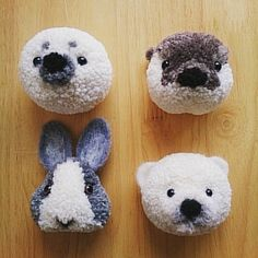 Cute Crafts, Diy And Crafts, Crafts For Kids, Arts And Crafts, Diy Craft Projects, Crochet Projects, Sewing Projects, Pom Pom Crafts, Yarn Crafts