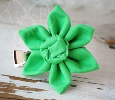 Buy directly from the world's most awesome indie brands. Or open a free online store. Kanzashi Flowers, Handmade Hair Accessories, Fabric Jewelry, Spring Green, Easy Wear, Hair Accessory, Indie Brands, Rosettes, St Patricks Day