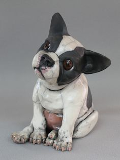Raku fired Boston Terrier