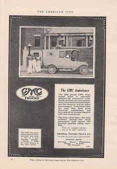 GMC Ambulance 1917 Ad