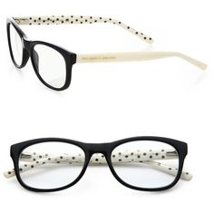 Kate Spade New York Lettie Polka Dot Reading Glasses ($68) ❤ liked on Polyvore featuring accessories, eyewear, eyeglasses, glasses, sunglasses, lentes, jewelry, tortoise pink, tortoiseshell eyeglasses and kate spade eyewear