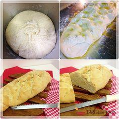 Pão italiano rápido caseiro