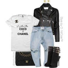 Untitled #3188 by stylebydnicole on Polyvore featuring MANGO, Giuseppe Zanotti, Chanel, women's clothing, women's fashion, women, female, woman, misses and juniors