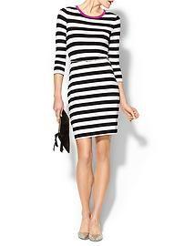 Calvin Klein Striped Dress With Belt