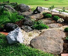 Best Boulder Landscaping Ideas Boulder Landscaping Ideas Landscape Rock Boulders And Making Landscaping With Boulders, Small Yard Landscaping, Landscaping Supplies, Backyard Landscaping, Landscaping Ideas, Backyard Designs, Landscape Design, Garden Design, Patio Design