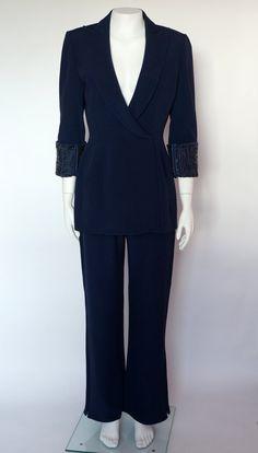 Thierry Mugler Couture vintage 2 set silk by PandoraFashion