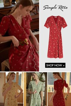 Fashion Themes, Fashion Outfits, Modern Outfits, Cool Outfits, Hobbs Dresses, Flattering Outfits, Emerald Green Dresses, Floral Fashion, Aesthetic Clothes