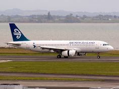 Air New Zealand slowing down at Auckland Type: Airbus Registration: ZK-OJE Location: Auckland International Airport Date: Nz History, Passenger Aircraft, Air New Zealand, Corporate Identity Design, Cabin Design, Classic Image, International Airport, Auckland, Jets