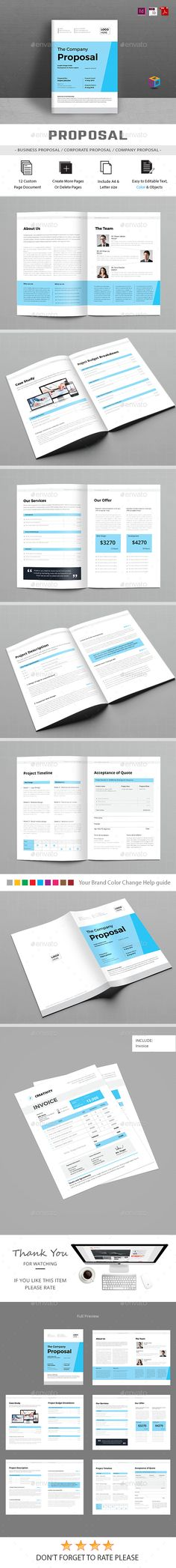 Proposal u2014 InDesign Template red business u2022