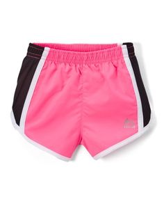 Love this Pink & Black Active Shorts - Toddler on #zulily! #zulilyfinds