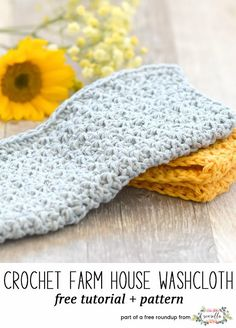 Crochet these easy farm house washclothes from Mama In a Stitch from my quick crochet gifts to make in under 1 hour free pattern roundup!