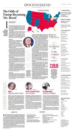 The Odds of Trump Becoming 'Mr. Brexit'|Epoch Times #newspaper #editorialdesign