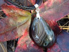 Stunning Brown Madagascar Agate Gemstone Necklace by TheseVagabondShoes, $14.00