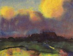 Emil Nolde (1867-1956)  Tijdens de actie 'Ontaarde Kunst' werden 1052 werken van hem uit Duitse musea in beslag genomen. Er komt zelfs een expositie van Gedegenereerde Kunst waar 29 van zijn schilderijen hangen om openlijk door de bezoekers te worden veracht. Tijdens de oorlog in 1941 werd hij uit de Rijkskunstkamer gezet en kreeg hij een schilderverbod opgelegd. Zijn Berlijnse atelier werd tijdens een bombardement in 1944 geheel verwoest.