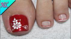 ♥DISEÑO DE UÑAS PARA PIES FLOR PARA PRINCIPIANTES ¡MUY FÁCIL! - FLOWERS ... Toe Nail Flower Designs, Flower Toe Nails, Toenail Art Designs, Pedicure Nail Art, Toe Nail Art, Nail Manicure, Blue Acrylic Nails, Pink Nails, Pretty Toe Nails