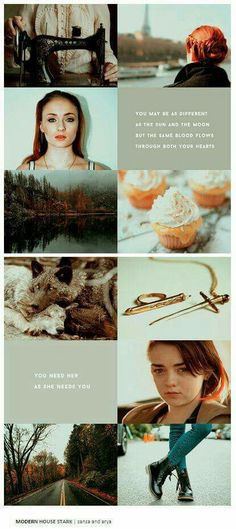 Modem house stark: sansa and arya