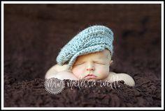 Custom Crochet Baby Drivers Cap. $22.00, via Etsy.