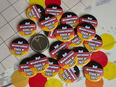 Custom German Class of 2021 Badges Custom Badges, Custom Buttons, School Leavers, Language School, Badge Design, Button Badge, How To Make Buttons, German, How Are You Feeling