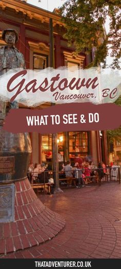 Heading to Vancouver, BC? Make sure you visit Gastown and take a … – North America travel - Travel Destinations Vancouver Island, Vancouver Seattle, Visit Vancouver, Vancouver Gastown, Vancouver Food, Vancouver Things To Do, Banff, Vancouver Vacation, Vancouver Travel