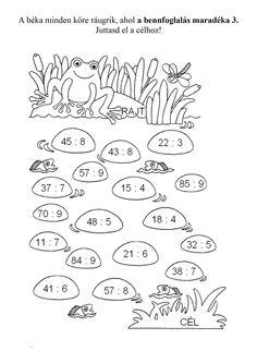 Maradékos bennfoglalás játékosan2.doc Multiplication, Math Activities, Kids And Parenting, Math Equations, Learning, School, Multiplication Tables, Note Cards, Activities