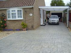Examples of Pattern Imprinted Concrete Driveways from Cornerstone Paving
