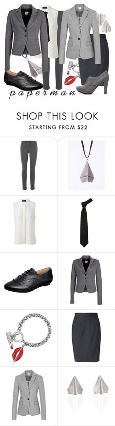 """P a p e r m a n"" by princesschandler ❤ liked on Polyvore featuring 7 For All Mankind, GUESS by Marciano, Forzieri, Mimic Copenhagen, Patrizia Pepe, Lulu Guinness, L.K.Bennett, Reiss and Me Too"