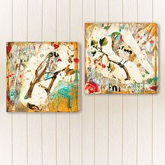 """24""""Sq. """"Lucky In Love I"""" and """"Lucky In Love II"""" by Judy Paul 