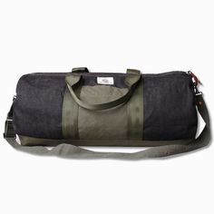 Black Selvedge Duffel Bag w/Nylon Details